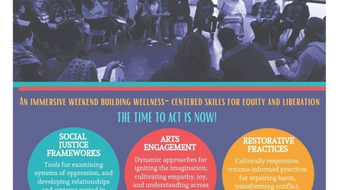 Creative Strategies for Change, a Denver 501 C3, discussing social justice frameworks, arts engagement, restorative practices at our quarterly Facilitator Workshop